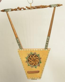 Ethiopian Lyre or Harp, African musical instrument